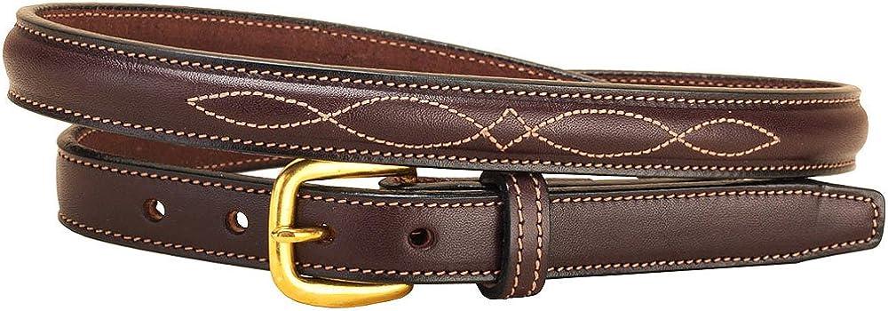 Tory Leather Raised Stitch Belt Fancy Max El Paso Mall 60% OFF