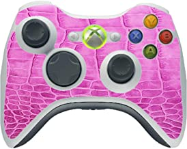 Pink Crocodile Leather Print Pattern Background Vinyl Decal Sticker Skin by Moonlight4225 for Xbox 360 Wireless Controller