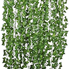 With pretty blooms and amazingly life-like foliage bursting out of the basket or wall, our artificial English Ivy Vine Hanging Plant is not to be missed, Let you feel yourself in the nature and save your room space Artificial hanging Ivy Garland is a...