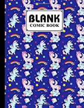 Blank Comic Book: Premium Unicorn Rainbow Cover Blank Comic Book, Create Your Own Story, Journal, Notebook, Sketchbook for...