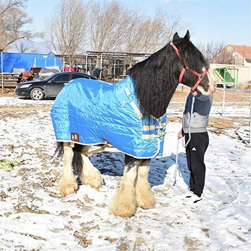 PET HOUND Outdoordecke Pferdedecke Halsansatz Polyester wasserdichte Pferdedecke Winter Warme, Atmungsaktive Baumwolldecke Schwere, Mittelschwere Pferdedecke