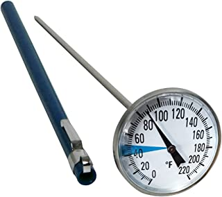 """Stainless Steel Soil Thermometer by Smart Choice  127mm Stem, Easy-to-Read 1.5"""" Dial Display, 0-220 Degrees Fahrenheit Ran..."""
