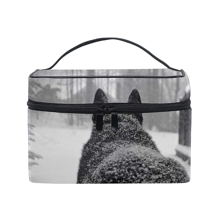 一貫した比べるするだろうオオカミ冬の雪雪の動物コスメ 化粧 洗面 旅行 出張 ホワイトデー お返し ギフト