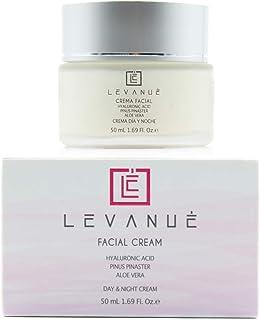 LEVANUE Crema hidratante facial mujer con vitamina C crema antiarrugas mujer con Ácido Hialurónico Aloe Vera y extracto ...