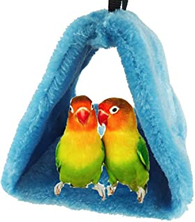 Bello Luna Gray Parrot Nest Pet Bird Nest Winter Warm Hammock Hanging Cave Cage Plush Happy Hut Tent Bed …