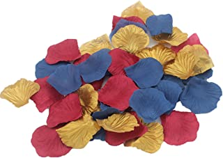 ALLHEARTDESIRES 900 Pack Navy Blue Burgundy Gold Artificial Rose Flower Petals for Wedding Table Confetti Scatters Bridal Baby Shower Party Centerpieces Flower Girl Basket Decoration