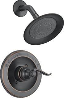 Delta Windemere Single-Function Shower Trim Kit with Single-Spray Shower Head, Oil Rubbed Bronze BT14296-OB (Valve Not Included) (Renewed)