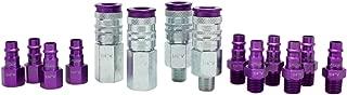 ColorFit by Milton HIGHFLOWPRO S-314VKIT Coupler & Plug Kit - (V-Style, Purple) - 1/4