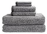 Everplush Diamond Jacquard Bath Sheet Towel Set, 6 Piece, Grey