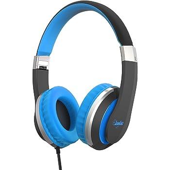 Kids Headphones Elecder i41 Headphones for Kids Children Girls Boys Teens Foldable Adjustable On Ear Headphones with 3.5mm Jack for iPad Cellphones Computer Kindle Airplane School Black&Blue