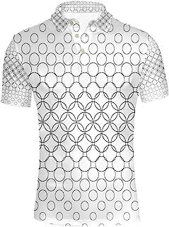GoldenChuan Mens Fashion Short Sleeve Stripe Large Size Casual Top Shirt Polo Shirt Short Sleeve T-Shirt Casual Plaid
