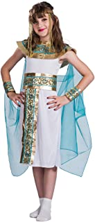 M MUNCASO Cleopatra Costume - Kids Egyptian Princess Dress for Cosplay Party (S) White