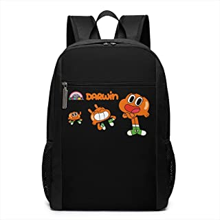 Funny Fashion Unisex The Amazing World Of Gumball Mimeograph Computerrn Backpacks Black 17