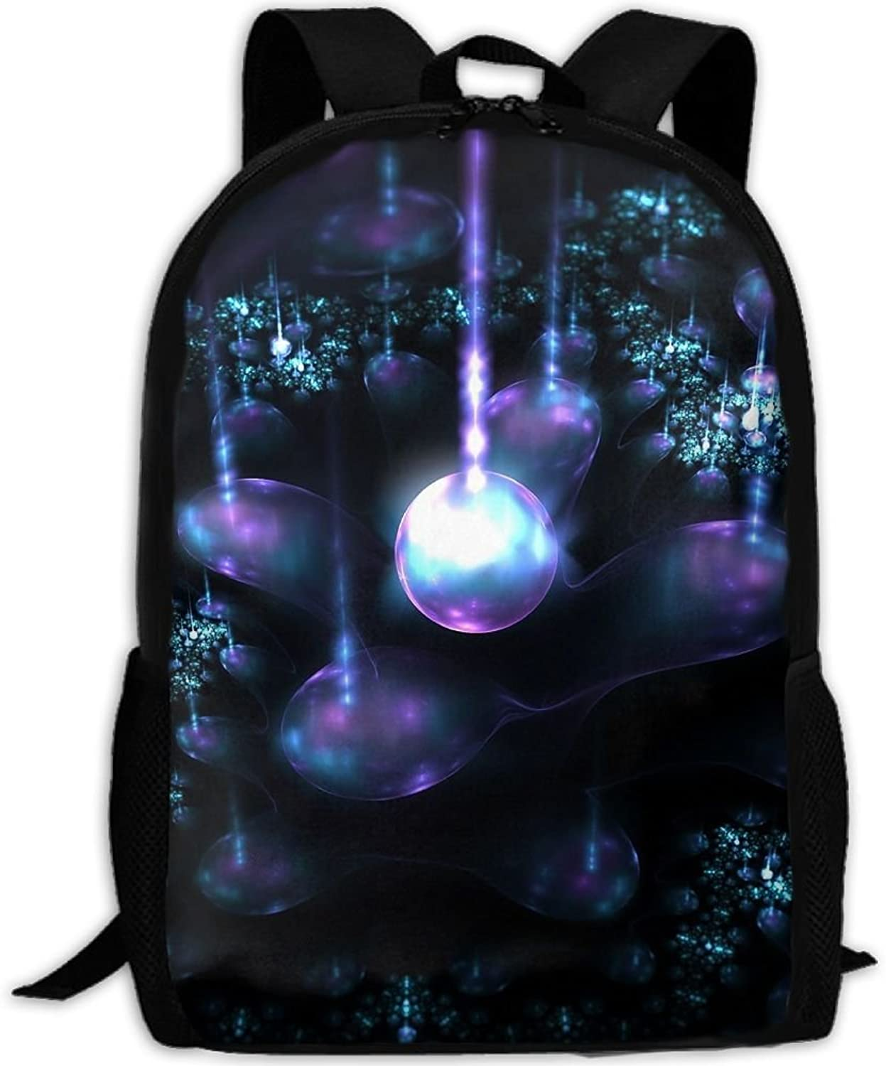 Adult Backpack Magic Line Light Shadow College Daypack Oxford Bag Unisex Business Travel Sports Bag with Adjustable Strap