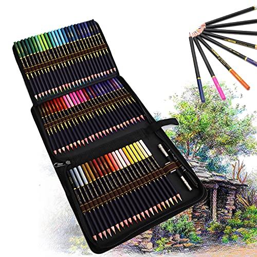 72 Lapices de Colores de Dibujo con Base de Óleo, Incluye Lápiz Color Carne para Colorear y Hacer Bocetos, Lapices Colores Profesionales para Artistas, Principiantes, Adultos y Niños