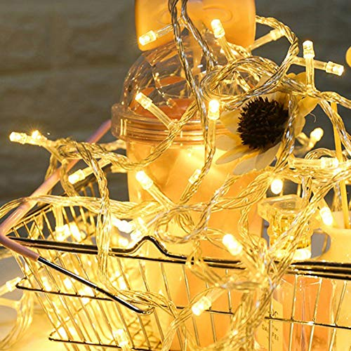 ZHQIC Christmas Decoration Hollow Plastic Lantern Night Light Outdoor String Lights LED for Garland String Fairy Christmas Decoration