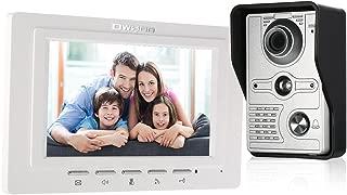 OWSOO Videoportero Cableado Timbre Intercomunicador (1000TVL Cámara de Vigilancia Exterior, 7