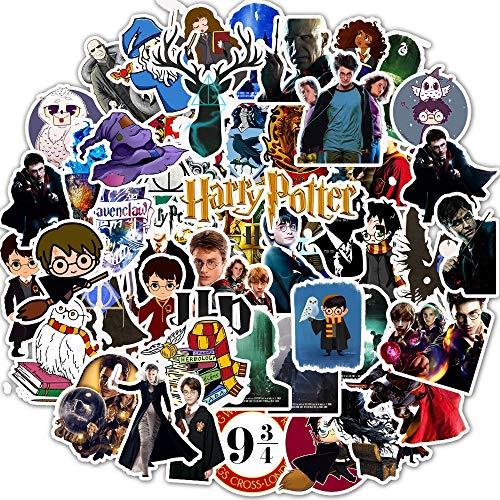 Fancico Laptop Aufkleber Pack 50 Stück, Harry Potter Aufkleber Einzigartige Coole Aufkleber Wasserflasche Notebook Gitarre Skateboard Reise Kind Aufkleber