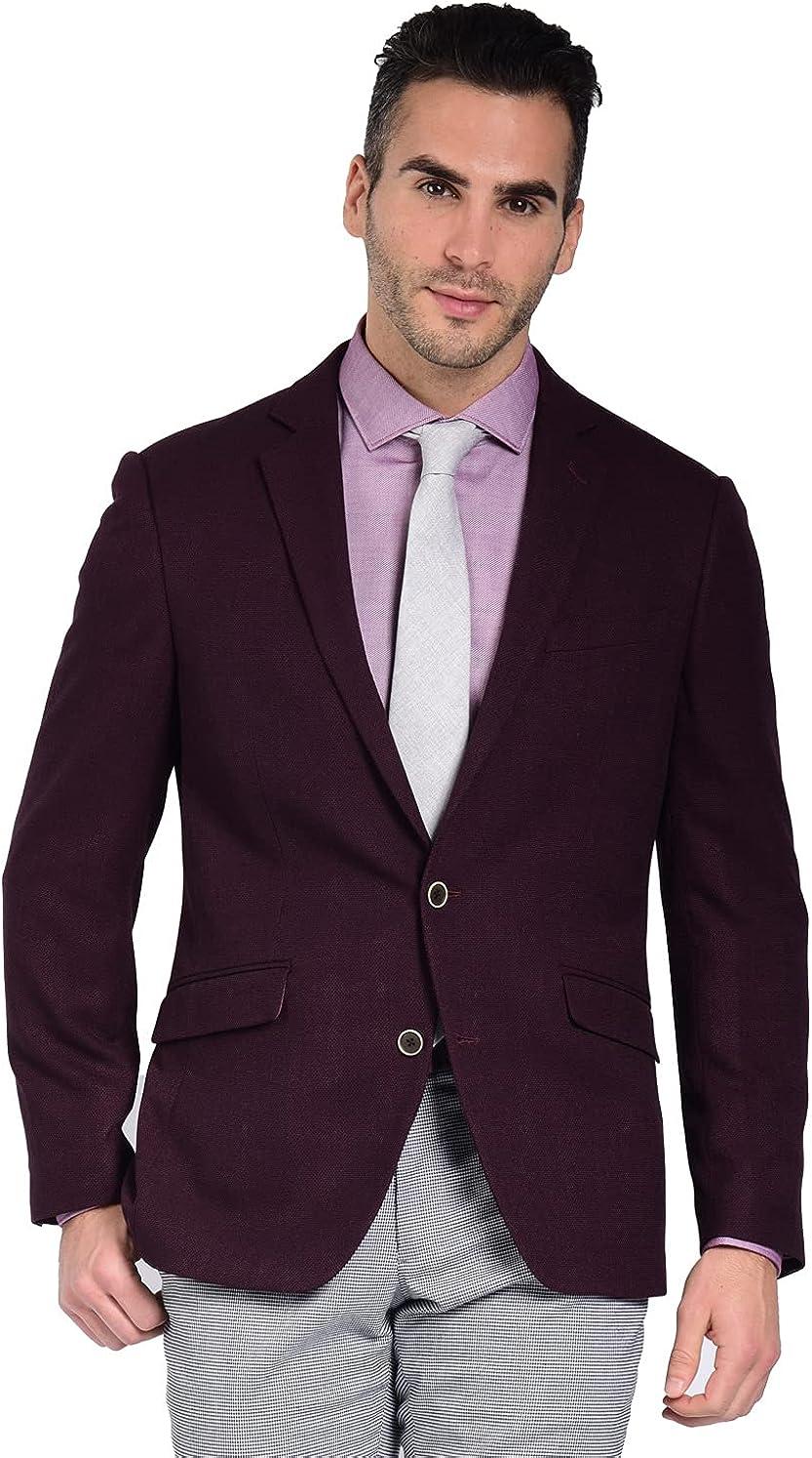 Craft & Soul Men's Slim Fit Stretch Textured Blazer Jacket Sport Coat