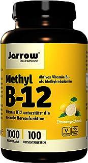 Jarrow Formulas Methylcobalamin (Methyl B12), Supports Brain Cells and Nerve Tissue, 1000 mcg, 100 Lozenges