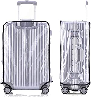 """PVC Luggage Protector Case 20 22 24 26 28 30 Inch Travel Suitcase Cover Case Protection (24"""" (40cm L x 26cm W x 57cm H))"""