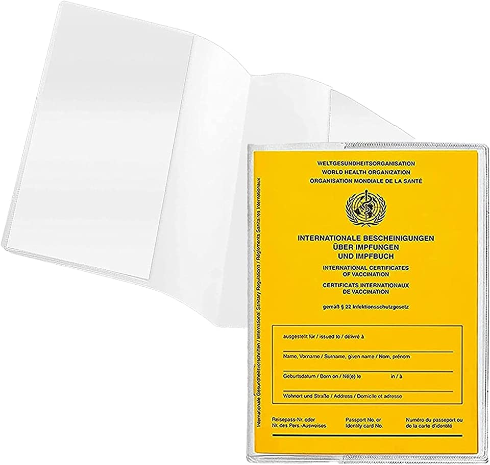 BBYU Impfpass Hülle Set Erwachsene & Kinder 93 mm x 130 mm Impfpass 2021 Impfpass Hülle Transparent Schutzhülle Impfpass Bestellen Kostenlos Impfausweis Reißfeste Impfpasshülle Etui