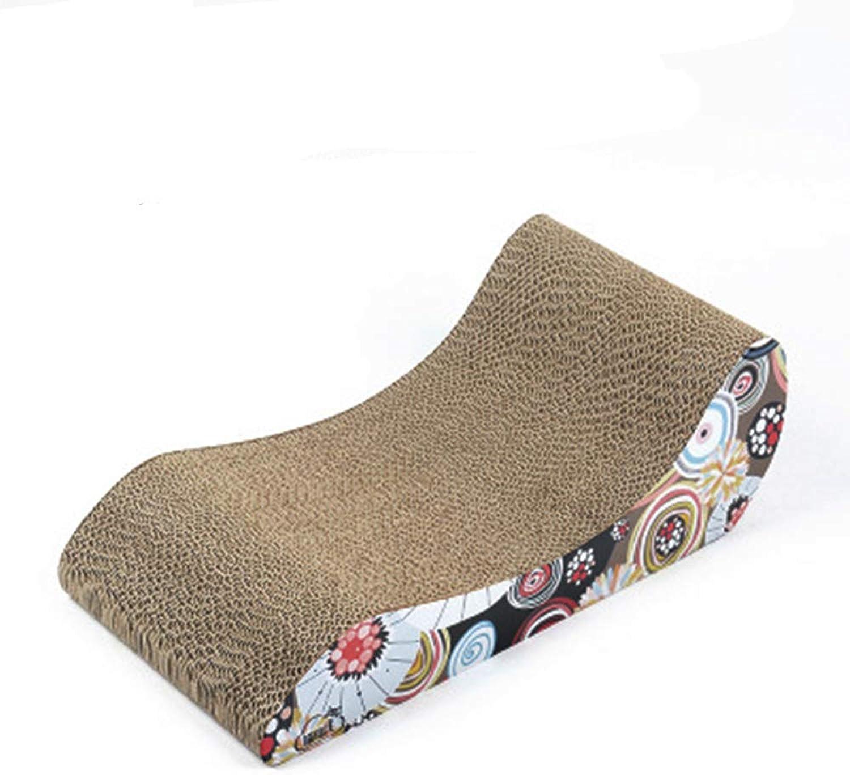 Cat Scratch Board,Corrugated Paper Cat Chaise Longue,Cat Bed, Cat Sofa, Grinding Claw Cat Toy,Cat Claw Board, 47X27.5X16cm Corrugated Paper core