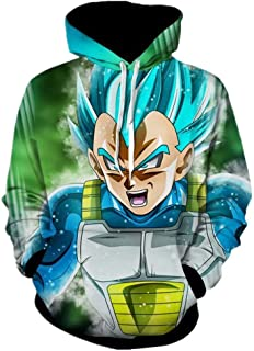 3D Dragon Ball Hoodie Men's Fashion Hooded Pullovers