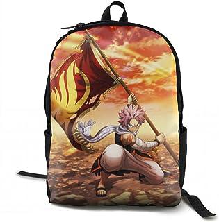 リュックサック Fairy_Tail_ナツ フェアリーテイル 双肩バッグ バックパック Schoolbag 大容量 青少年 中学生かばん 男女子高校生 スクエアリュック バック 通学 通勤
