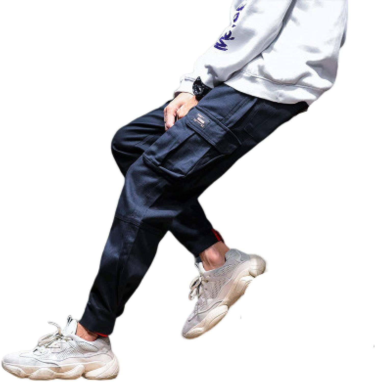 Men's Retro Casual Pants 70% OFF Outlet Stylish favorite Openings Sli Adjustable Ankle