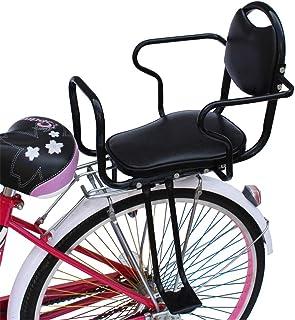صندلی عقب ایمنی کودک دوچرخه GFY ZZ ، صندلی کودک نو پا بچه های حامل دوچرخه جهانی با پدال های پشتی تکیه گاه ، سیاه