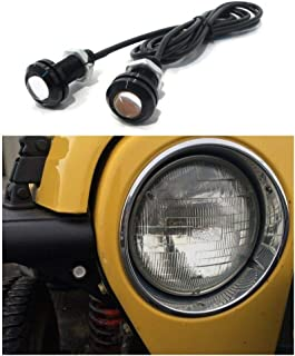 Noa Store Jeep Wrangler Amber LED Front Turn Signal Lights for Tube/Flat Fenders - JK TJ YJ CJ Rubicon Sahara.