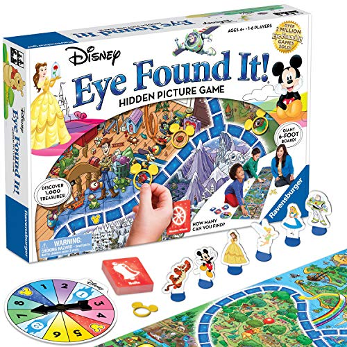 Image of the Ravensburger World of Disney Eye Found It Board Game for Boys and Girls Ages 4 and Up - A Fun Family Game You'll Want to Play Again and Again