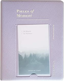 SMCompany Fujifilm Instax Mini Instant Film Photo Album 72Pockets Mini Polaroid Album Lavender