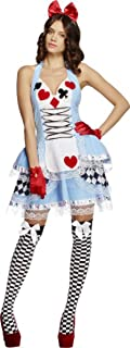 Womens Sexy Fancy Dress Party Fever Miss Wonderland Outfit Costume