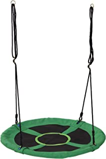 HOMCOM Columpio Nido Infantil Columpio de Árbol Forma Redonda Columpio para Niños Carga 100kg Jardín Exterior al Aire Libre Asiento Cómodo Tela de Oxford