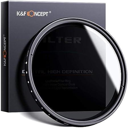 NDフィルター 62mm K&F Concept 62mm超薄型可変式NDフィルター カメラ用フィルター 減光フィルター 減光範囲ND2~ND400 調整可能 Sony Alpha A57 A77 A65デジタル一眼レフカメラ専用+クリーニングクロス