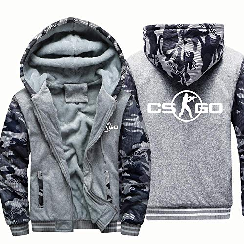 SYPT Drucken CSGO Hoodies Sweatshirt Beiläufige Winter-mit Kapuze Baseball Uniformen Warm Zip Langarm-Jacken 5-M
