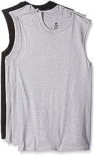 Hanes Men's Sport Styling Cotton Sleeveless T-Shirts w/ Cool DRI 4-Pack