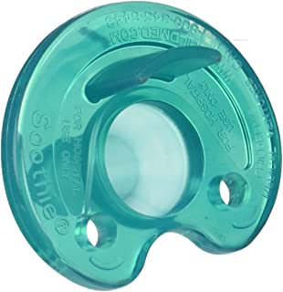 Philips Notched Newborn NICU Soothie Pacifier, Green, 0-3 Months, Hospital Binky - Natural Scent