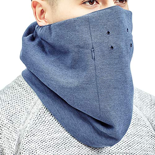 Lekko 2.0 Anti Pollution Scarf Mask Bandana - Great Replacement for Anti-Smog Mask (Blue, L)