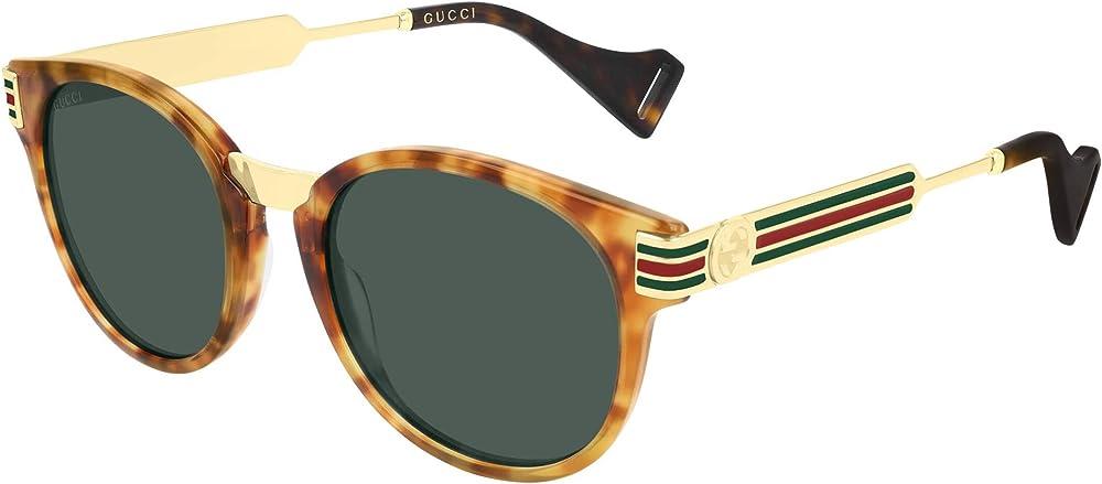 Gucci occhiali amber havana/green da uomo lenti grigie GG0586S