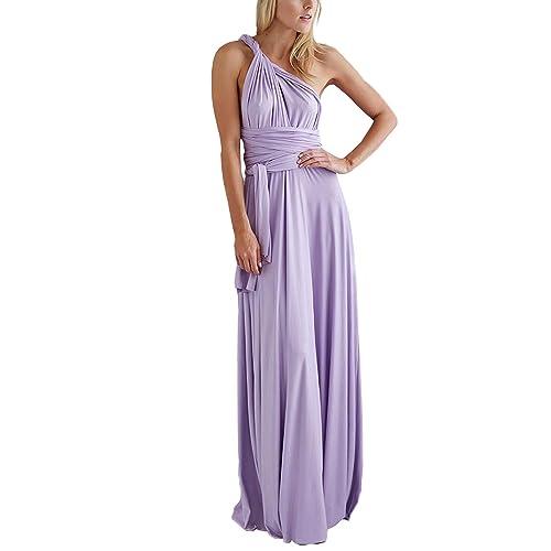 PERSUN Women s Convertible Multi Way Wrap Maxi Dress Long Semi Formal Party  Long Dresses 96333f5558bc