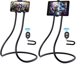 Upgrade Gooseneck Tablet Holder, B-Land Phone Stand for Bed, Universal Tablet Mount Holder with Remote, Lazy Neck Phone Holder Compatible with iPad Mini Pro Air, iPhone Series, Samsung Tabs & More