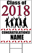2018 GRADUATION CRIMSON-RED YARD SIGN (1 EACH) by Partypro