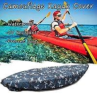 seabeatla カヌー カヤックカバー ボートカバー 防水 UV 耐性 収納 取り付け&取り外す簡単 (3.6-4m)