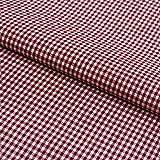 Hans-Textil-Shop Stoff Meterware Vichy Karo 2x2 mm Bordeaux