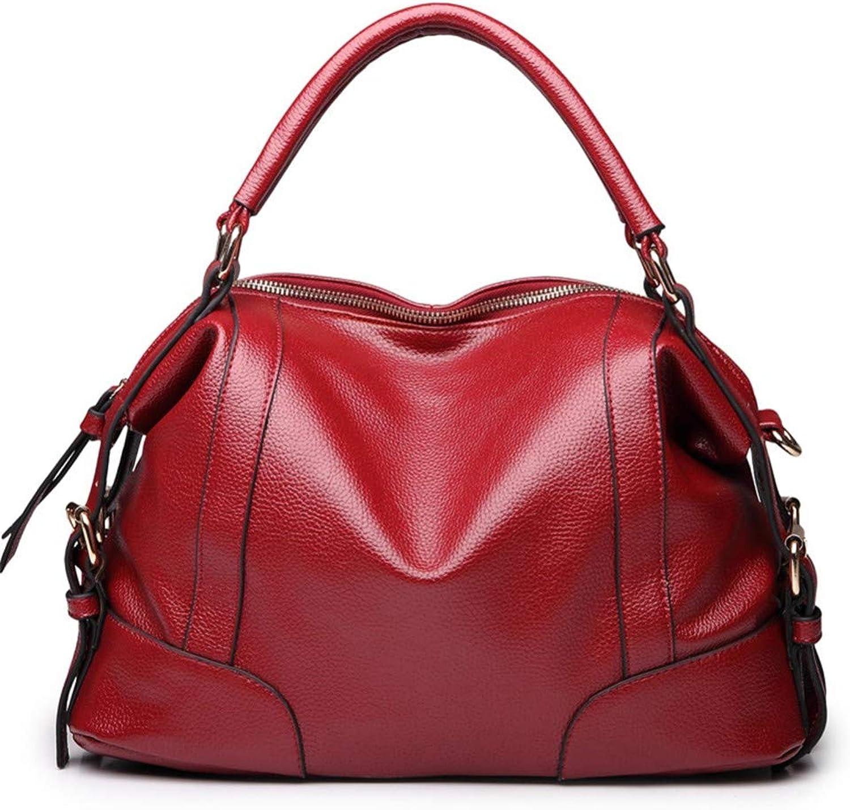 Lidoudou Damen Tasche Mode lässig Wilde Schulter geschlungen Handtasche Größe (Höhe 21 cm, Breite 34 cm) Material Rindsleder B07P5WBW3J  Große Klassifizierung