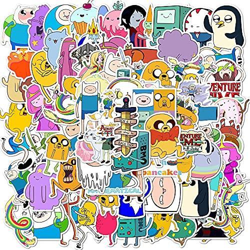 100PCS Adventur_e Time Stickers Cartoon Network Stickers Waterproof Vinyl Stickers for Kids Teens Adults Water Bottle Skateboard