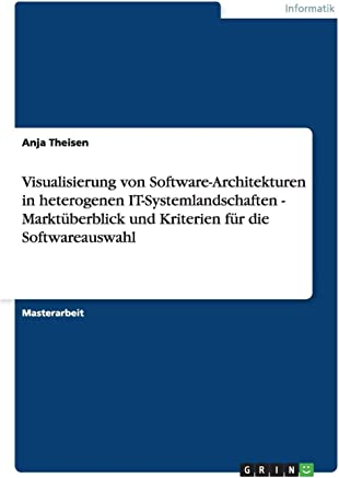 Visualisierung von Software-Architekturen in heterogenen IT-Systemlandschaften - Marktüberblick und Kriterien für die Softwareauswahl